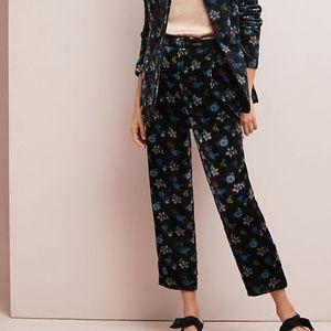 Anthro Blooming velvet pants